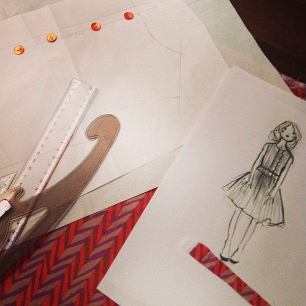 sketch 50's dress