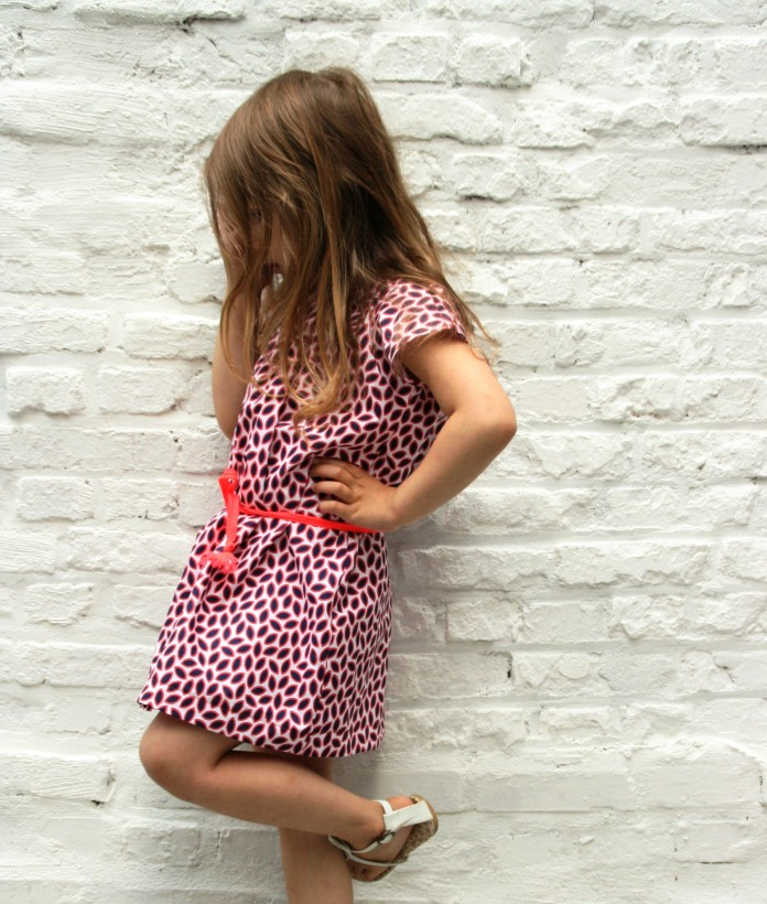 little girls printed dress