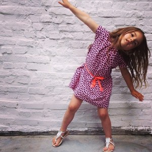 little girls easy printed dress